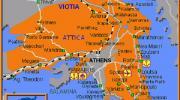 Карта Афинского Побережья