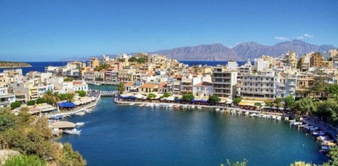 Город Агиос Николаос, Крит, Греция